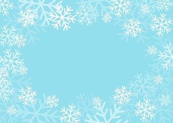Winter card with snowflakes. Vector illustration.