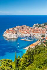 Wall Mural - Old town of Dubrovnik in summer, Dalmatia, Croatia