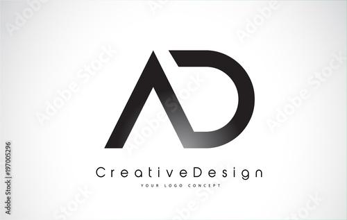 ad letter logo design creative icon modern letters vector logo