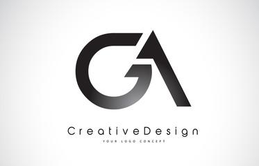 GA G A Letter Logo Design. Creative Icon Modern Letters Vector Logo.
