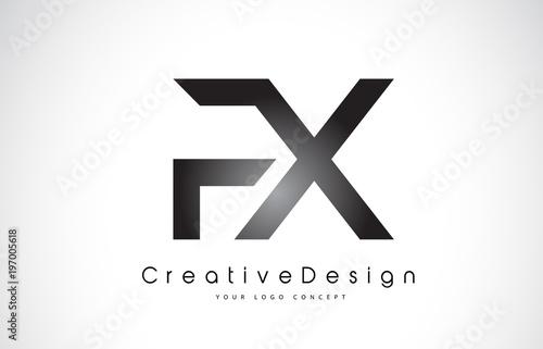 fx f x letter logo design creative icon modern letters vector logo