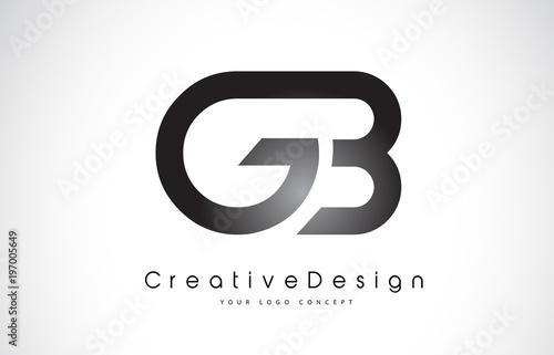gb g b letter logo design creative icon modern letters vector logo