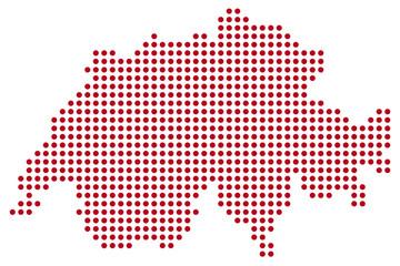 Schweiz Landkarte Punkte abstrakt
