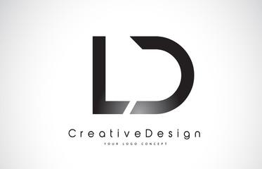 Obraz LD L D Letter Logo Design. Creative Icon Modern Letters Vector Logo. - fototapety do salonu