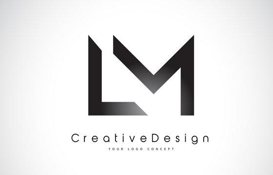 LM L M Letter Logo Design. Creative Icon Modern Letters Vector Logo.