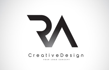 RA R A Letter Logo Design. Creative Icon Modern Letters Vector Logo.