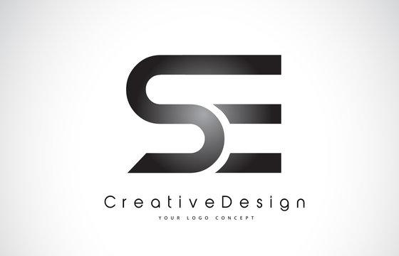 SE S E Letter Logo Design. Creative Icon Modern Letters Vector Logo.