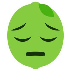 Emoji bedauernd - Limette