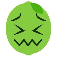 verzweifeltes Emoticon - Limette