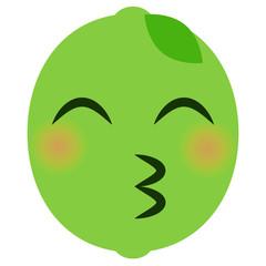 Emoji Kussmund - Limette