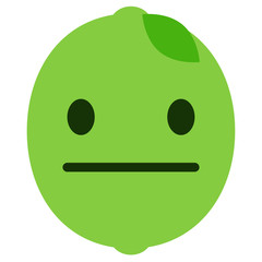 Emoji neutral - Limette