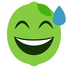 Emoji verlegen - Limette