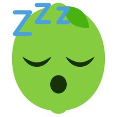 Emoji schlafend - Limette