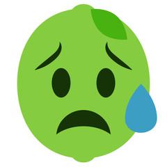 Emoji traurig - Limette