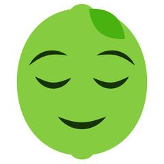 Emoji zufrieden - Limette