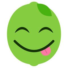 Emoji frech - Limette