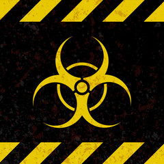 The sign is a biological hazard. Plate in the style of grunge. Vector illustration