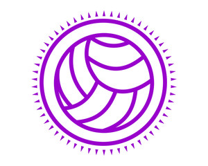 volley purple icon sport equipment tool utensil image vector