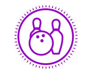 purple bowling icon sport equipment tool utensil image vector