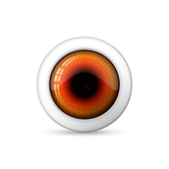 Glossy 3d Eye. Vector illustration.
