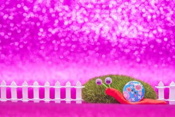 Cute snail childrens card