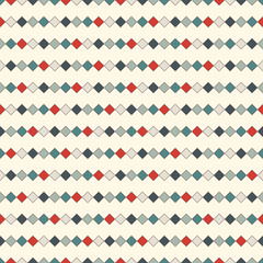 Seamless pattern with repeated squares. Horizontal lines background. Mosaic wallpaper. Minimalist geometric ornament.