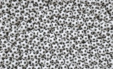 Soccer ball background - 3D Rendering