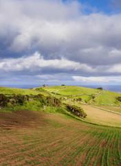 Landscape near Lajes, Flores Island, Azores, Portugal