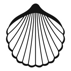 Beautiful shell icon. Simple illustration of beautiful shell vector icon for web