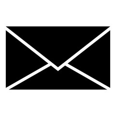 Letter icon black color illustration flat style simple image