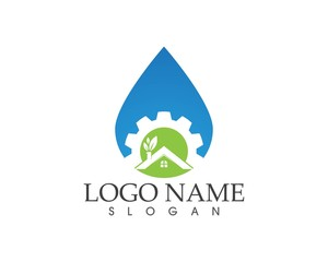 Building home nature service logo design