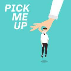 pick me up flat illustration