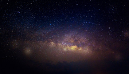 Milky way galaxy with stars and space dust in the universe, Night landscape with colorful Milky Way...