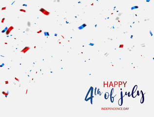 Happy 4th of July holiday banner. USA Independence Day Background