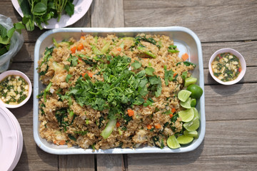 Delicious Thai local food style fried rice