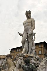 Neptunbrunnen an der Piazza della Signoria, Florenz, Unesco Weltkulturerbe, Toscana, Italien, Europa