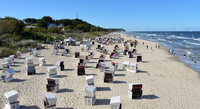 Sandstrand von Ahlbeck auf Usedom
