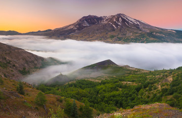 Scenic view of Mount Saint Helens