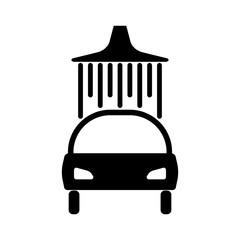Passenger car. Icon. car wash