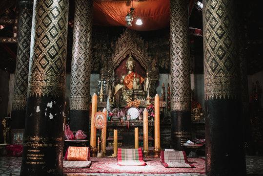 Bronze Buddha statue in temple