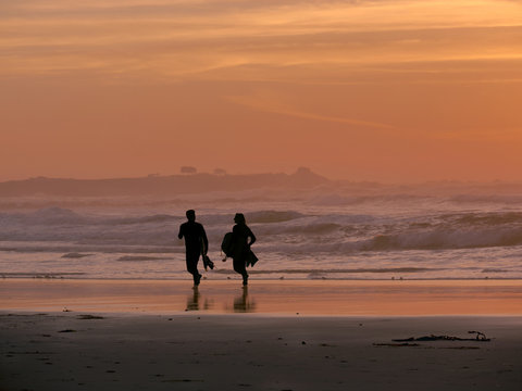 Couple on the Shore of Asilomar State Beach - Pacific Grove CA 0005