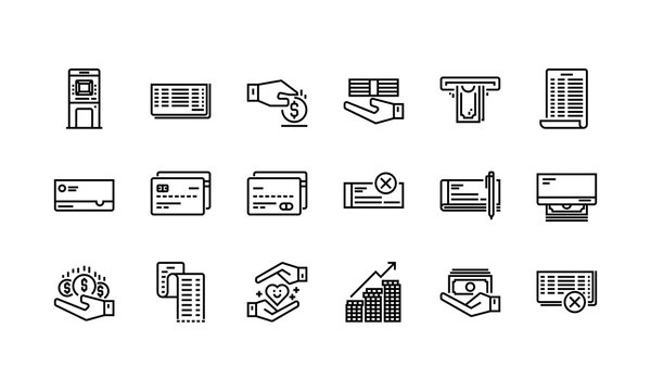 Banking and finance icons set 1