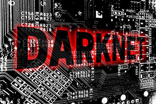 Darknet mit Leitplatine Konzept Hintergrund