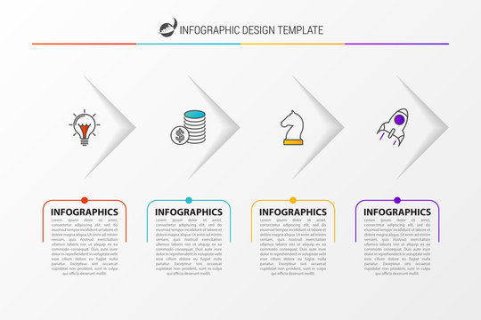 Infographic design template. Business concept with 4 options