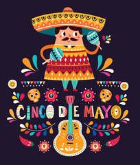 Mexican holiday illustration