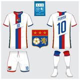 red soccer jersey football kit t shirt sport short sock template