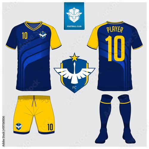Soccer Jersey Football Kit T Shirt Sport Short Sock Template Design