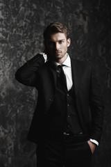 classic elegant male suit