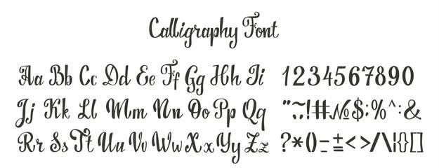 Calligraphy font set.