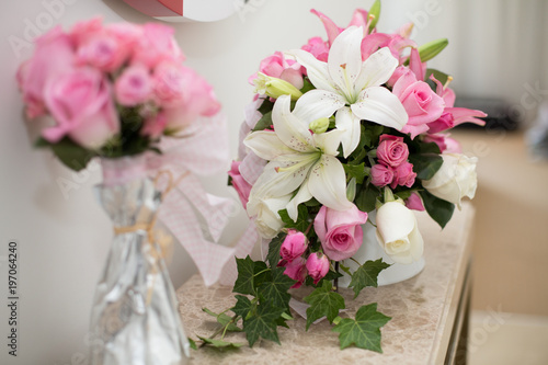Romantic Flower Decoration In An Hotel Room For A Couple In Love